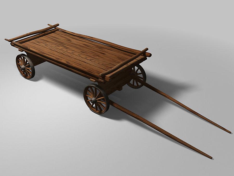 Horse carts royalty-free 3d model - Preview no. 1