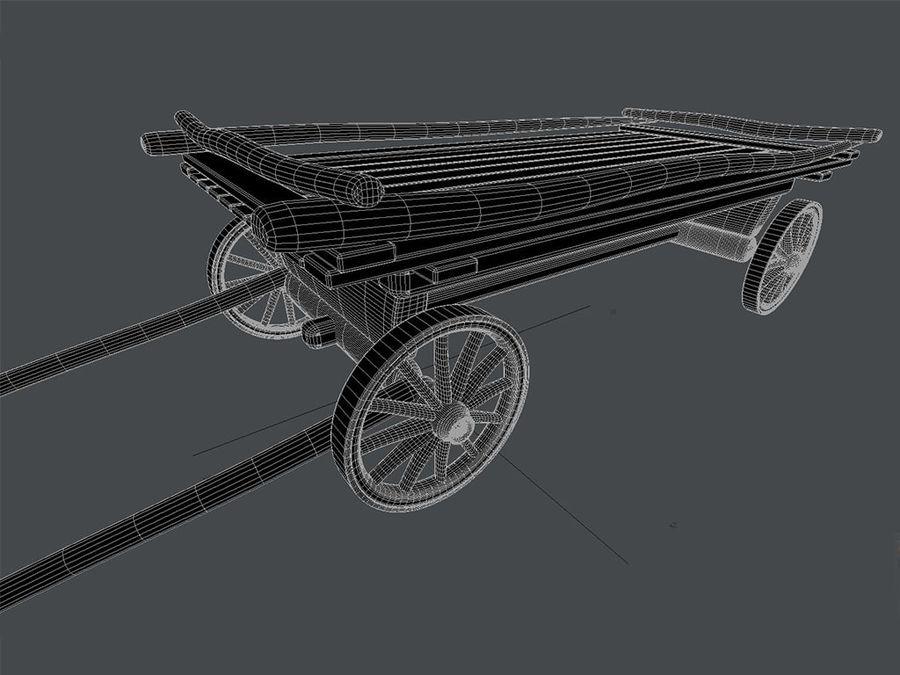 Horse carts royalty-free 3d model - Preview no. 6