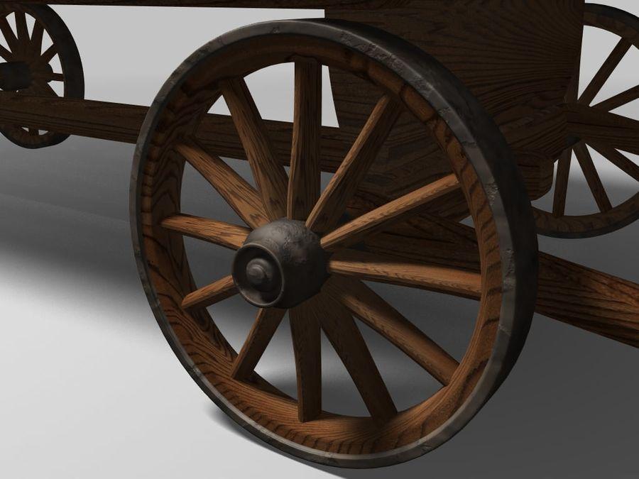 Horse carts royalty-free 3d model - Preview no. 3