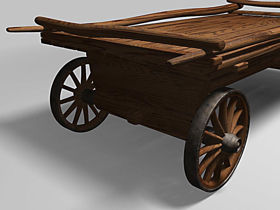 Horse carts royalty-free 3d model - Preview no. 4