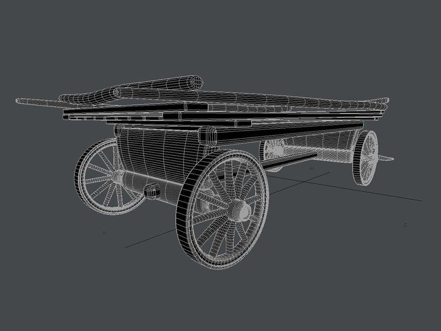 Horse carts royalty-free 3d model - Preview no. 5