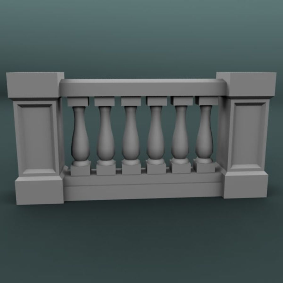 Balustrade 001_li06p royalty-free 3d model - Preview no. 1