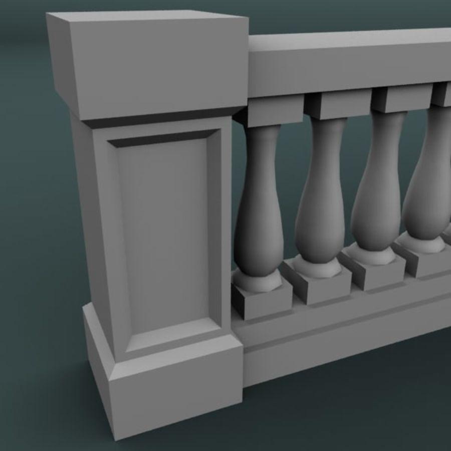 Balustrade 001_li06p royalty-free 3d model - Preview no. 4