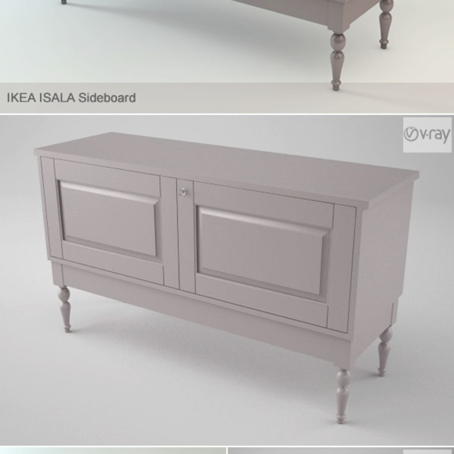 Ikea Isala Skänk royalty-free 3d model - Preview no. 2
