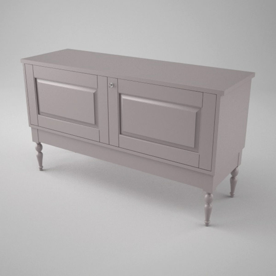 Ikea Isala Skänk royalty-free 3d model - Preview no. 4