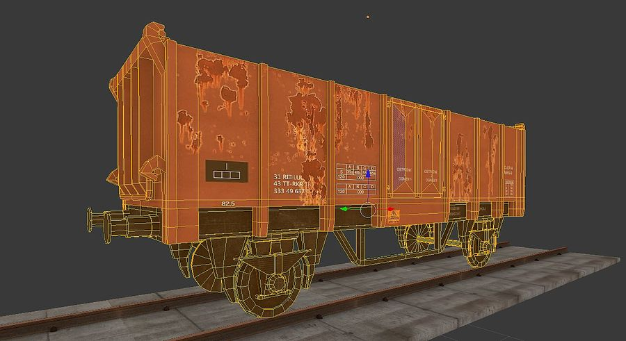 Train wagon royalty-free 3d model - Preview no. 4