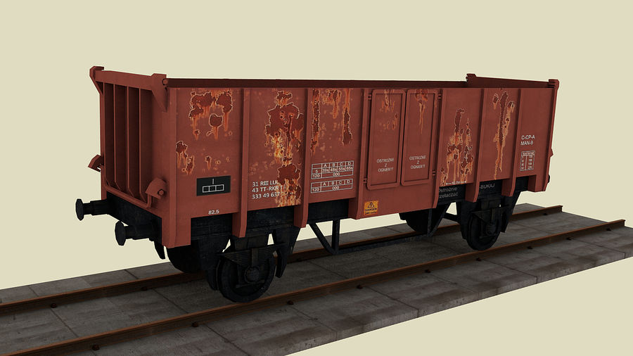 Train wagon royalty-free 3d model - Preview no. 1