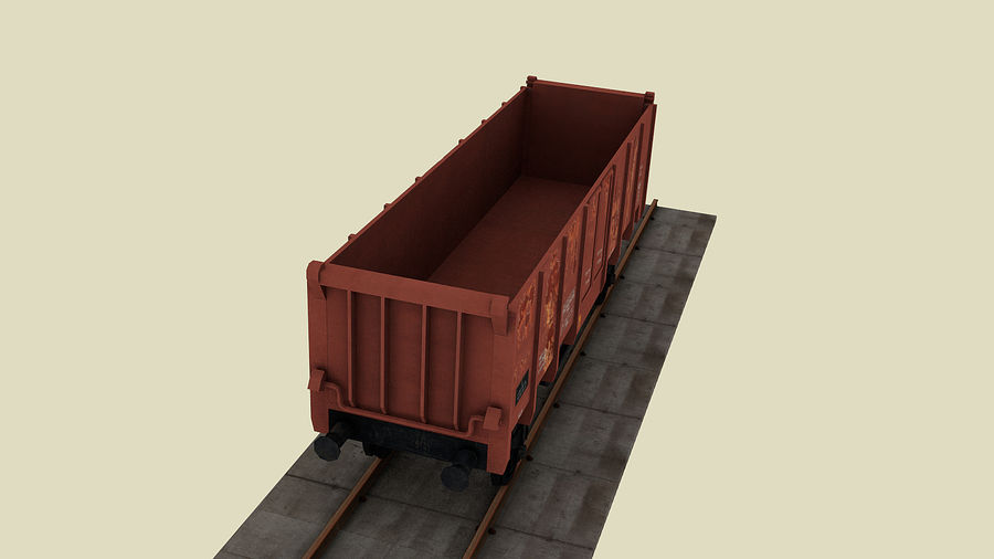 Train wagon royalty-free 3d model - Preview no. 3
