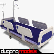 Hospital Bed 01 3d model