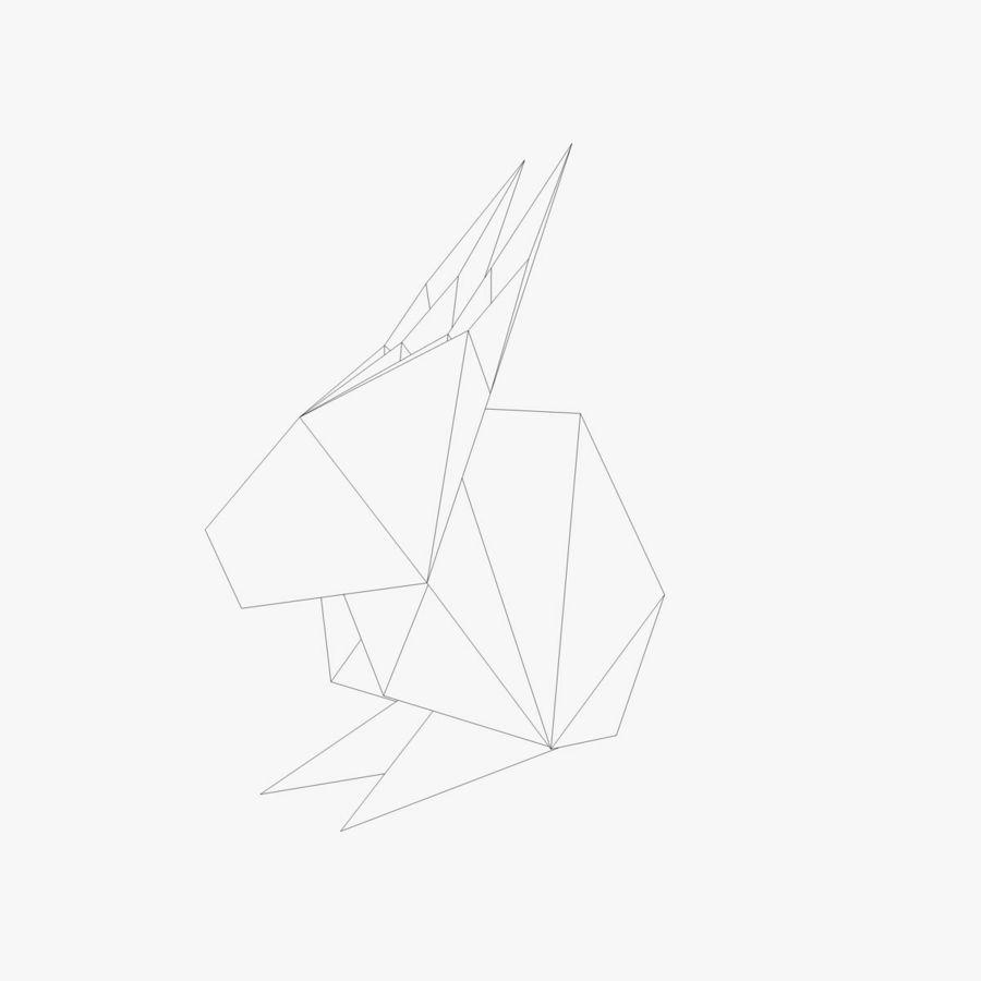 Origami Rabbit Royalty Free 3d Model
