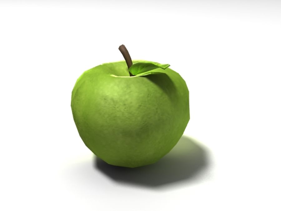 apple royalty-free 3d model - Preview no. 2