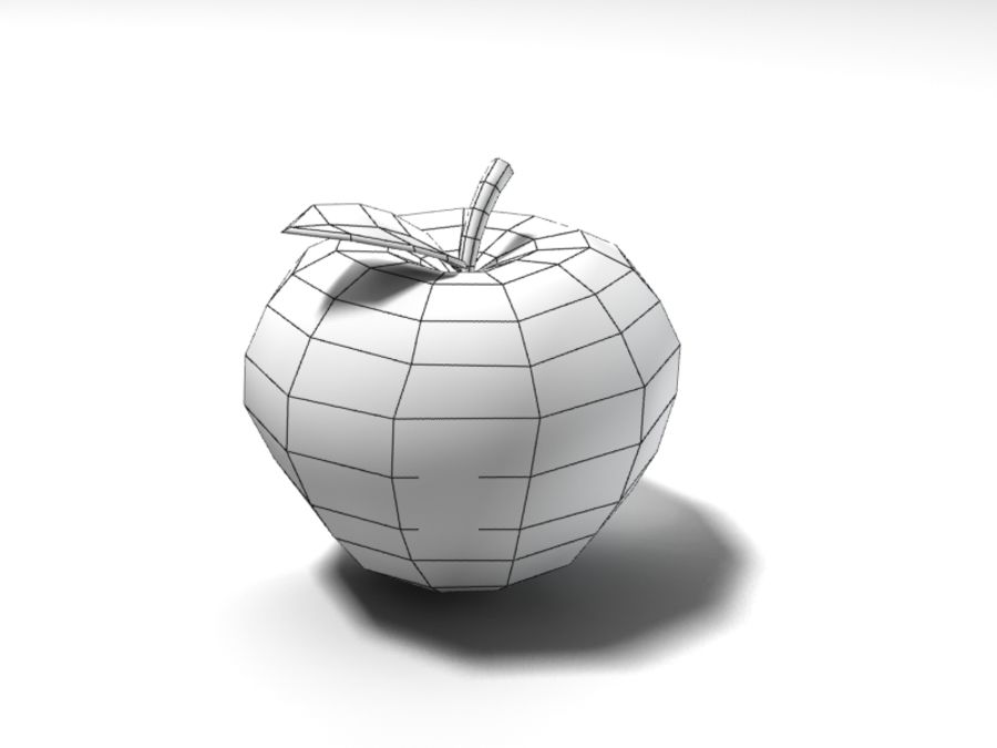apple royalty-free 3d model - Preview no. 7