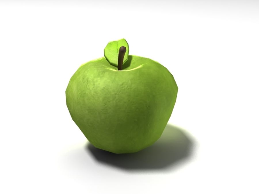 apple royalty-free 3d model - Preview no. 5