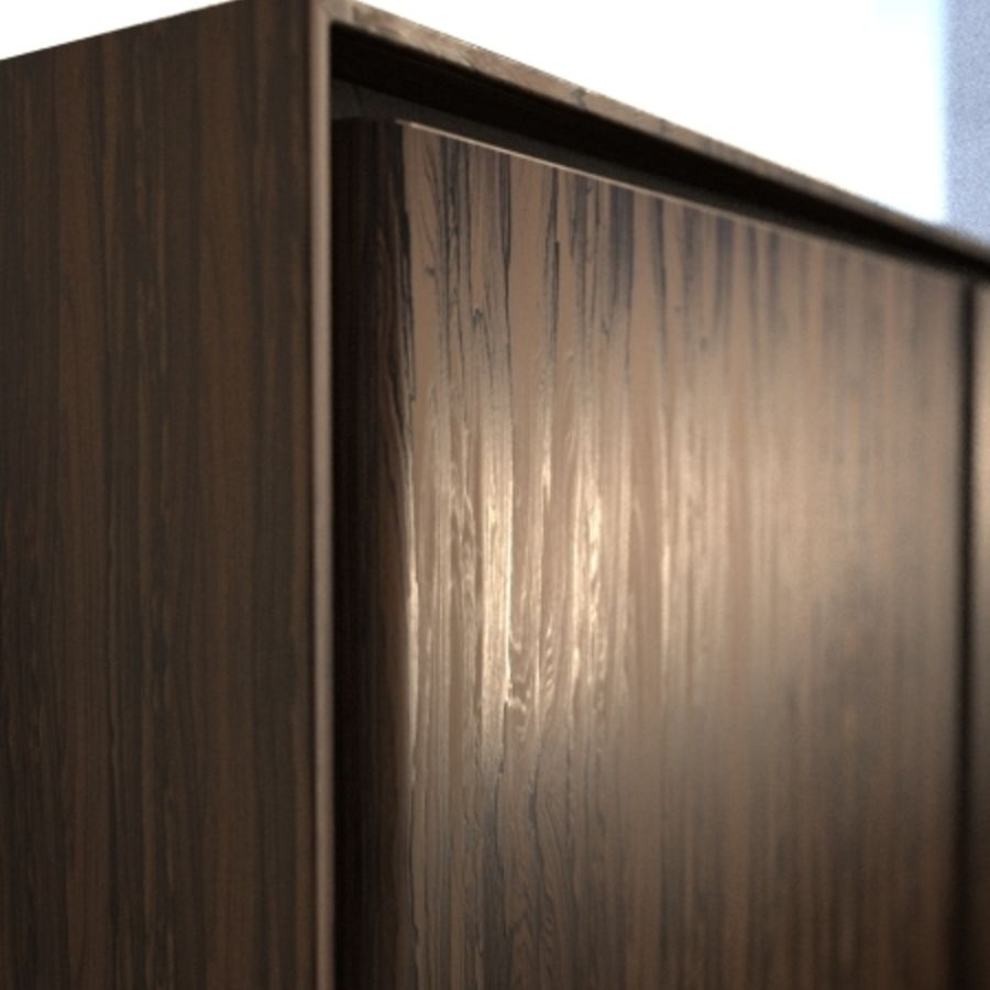 Gio Ponti Sideboard royalty-free 3d model - Preview no. 3