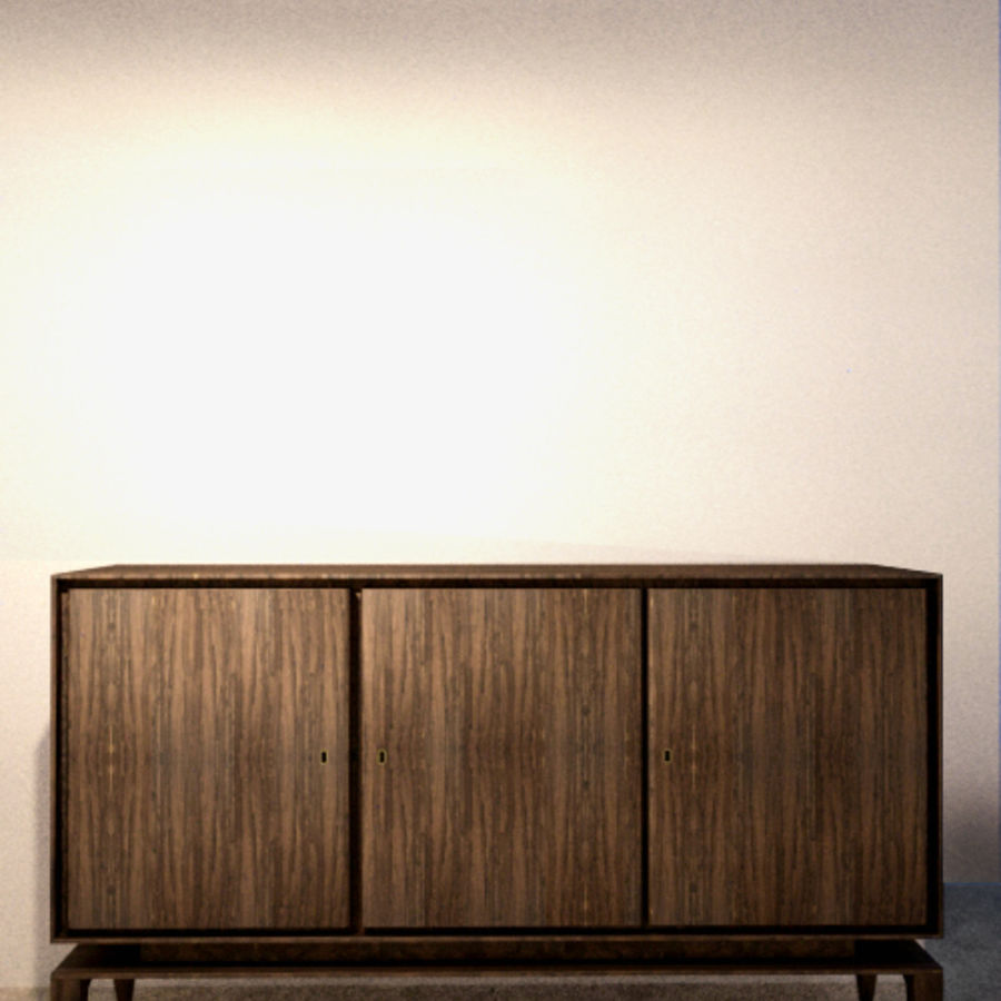 Gio Ponti Sideboard royalty-free 3d model - Preview no. 1