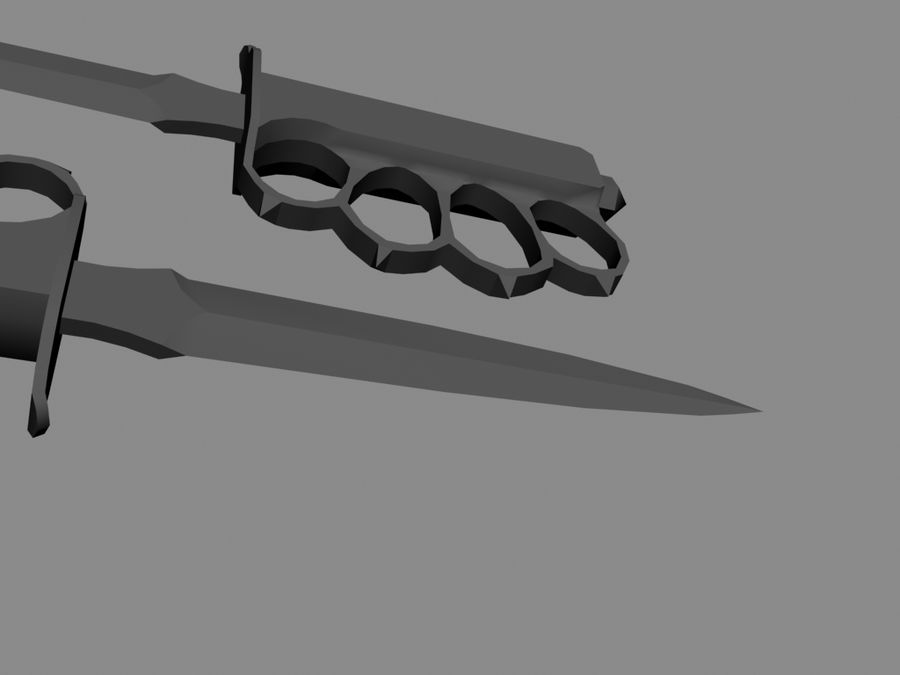US M1918 trench knife royalty-free 3d model - Preview no. 5