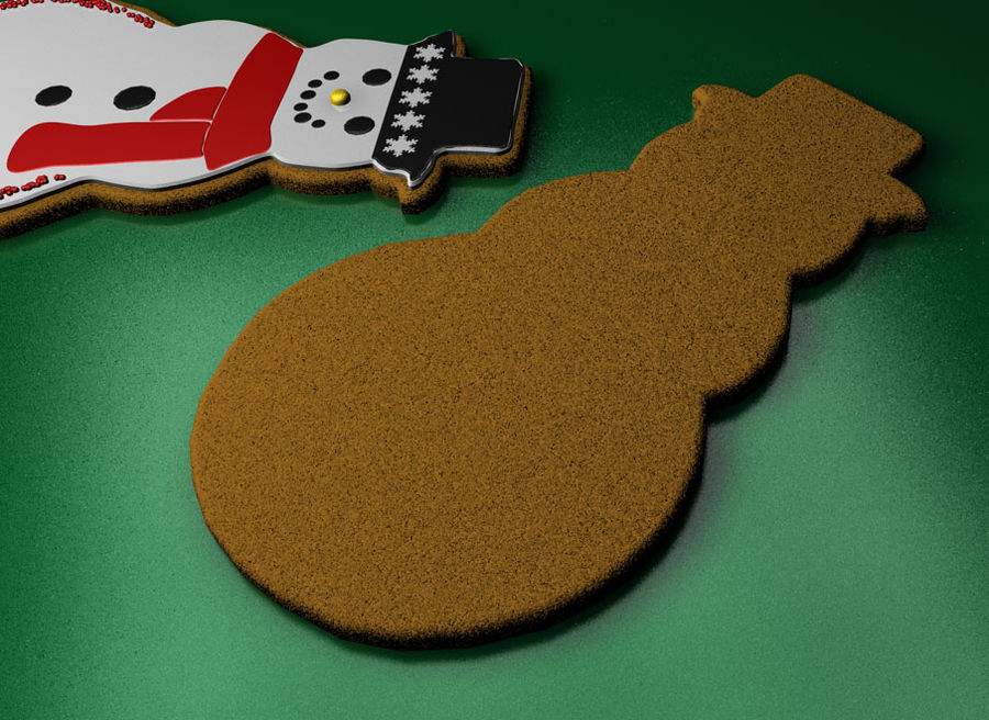 christmas cookie royalty-free 3d model - Preview no. 6