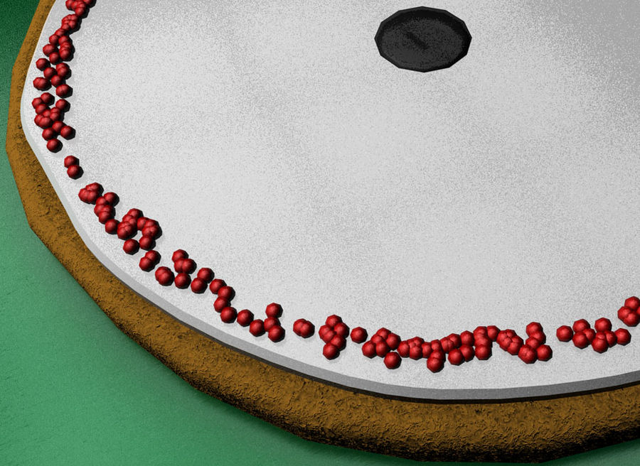 christmas cookie royalty-free 3d model - Preview no. 4