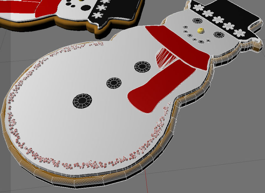 christmas cookie royalty-free 3d model - Preview no. 9