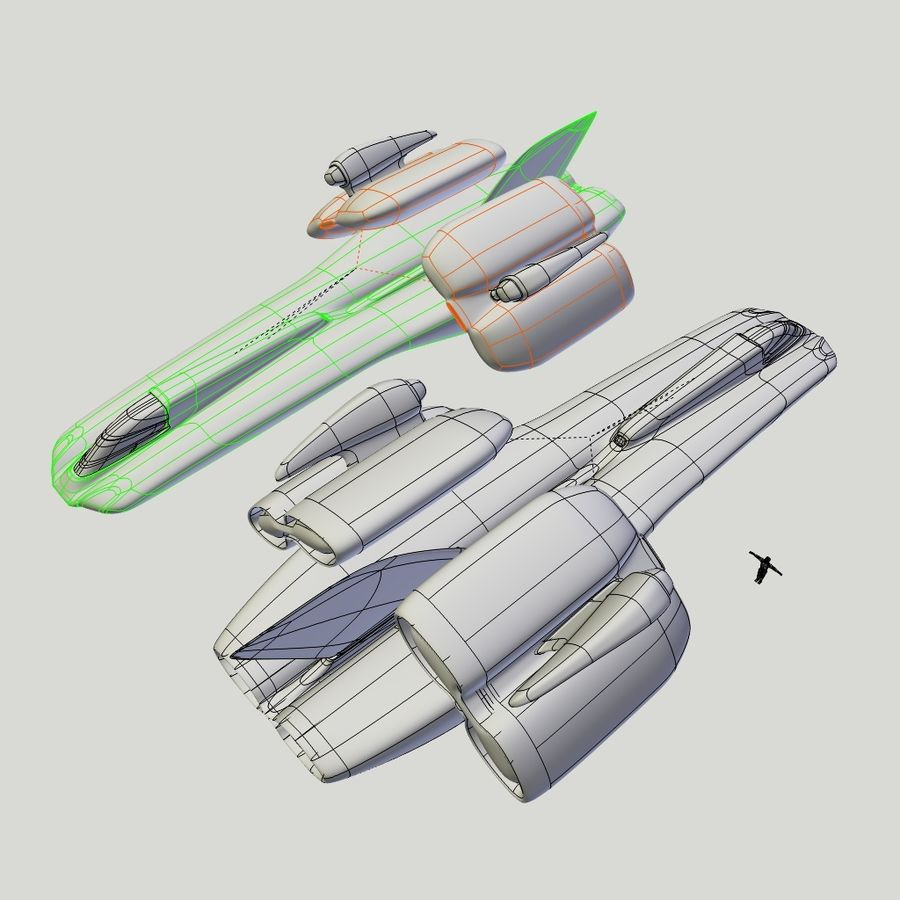 Cruiser royalty-free 3d model - Preview no. 4
