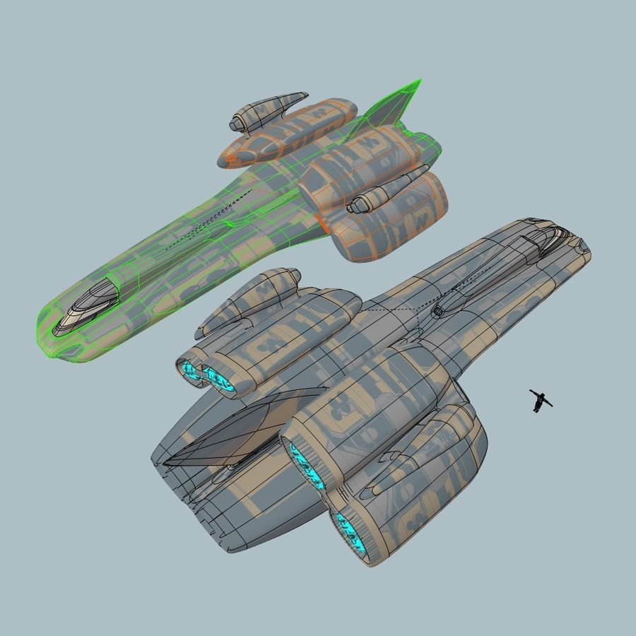 Cruiser royalty-free 3d model - Preview no. 6