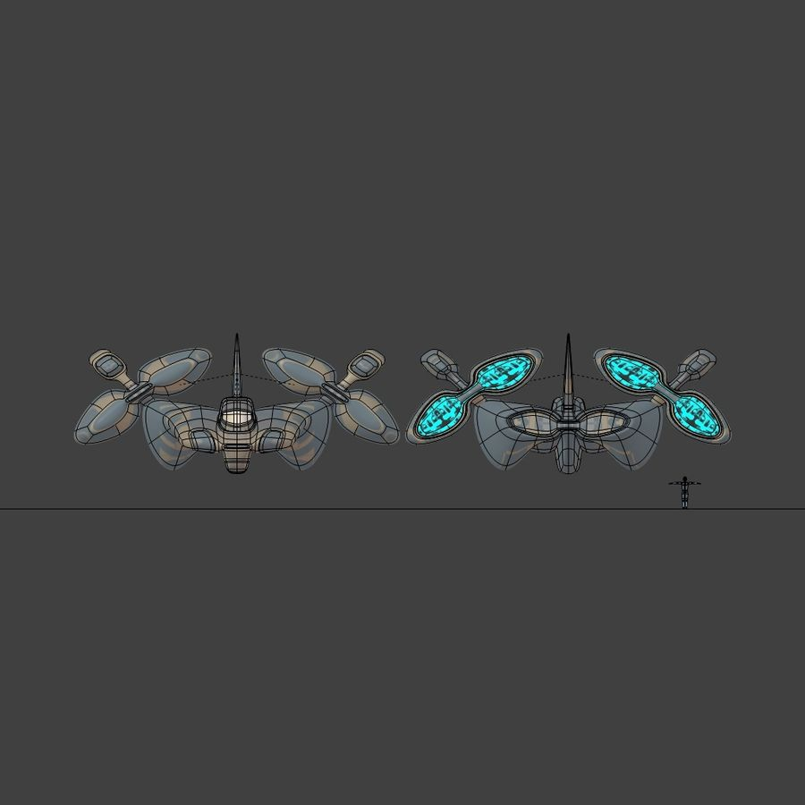 Cruiser royalty-free 3d model - Preview no. 8