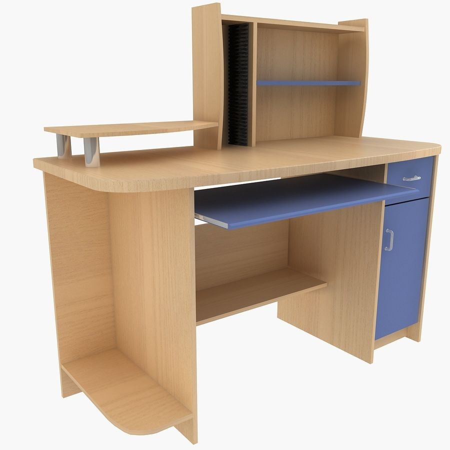 Computer Desk Table royalty-free 3d model - Preview no. 1