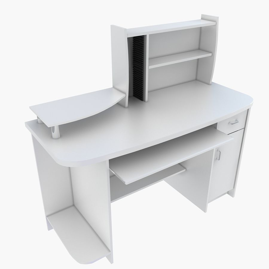 Computer Desk Table royalty-free 3d model - Preview no. 4