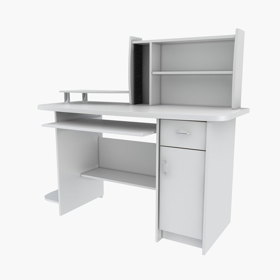 Computer Desk Table royalty-free 3d model - Preview no. 3