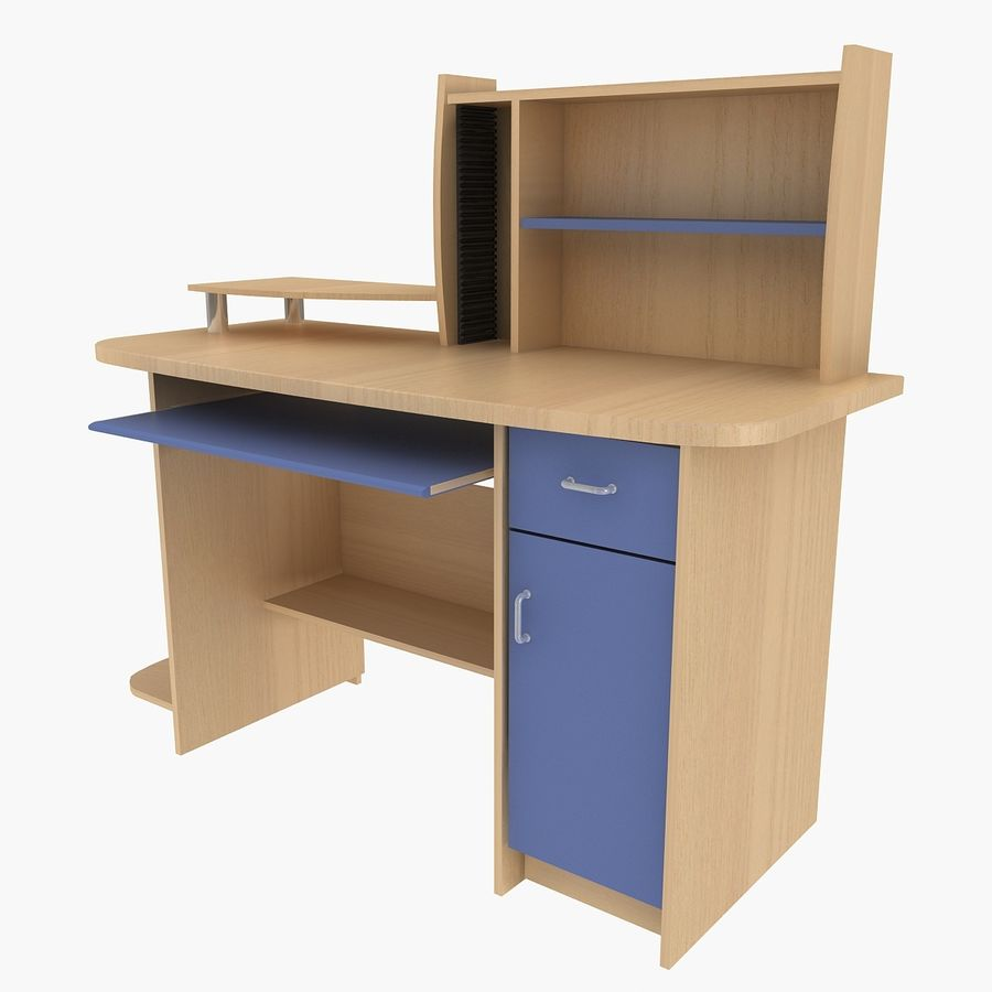 Computer Desk Table royalty-free 3d model - Preview no. 2