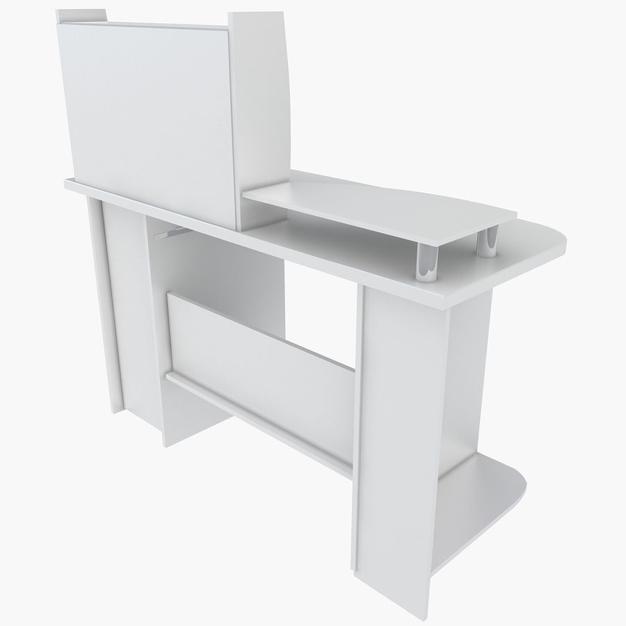 Computer Desk Table royalty-free 3d model - Preview no. 5