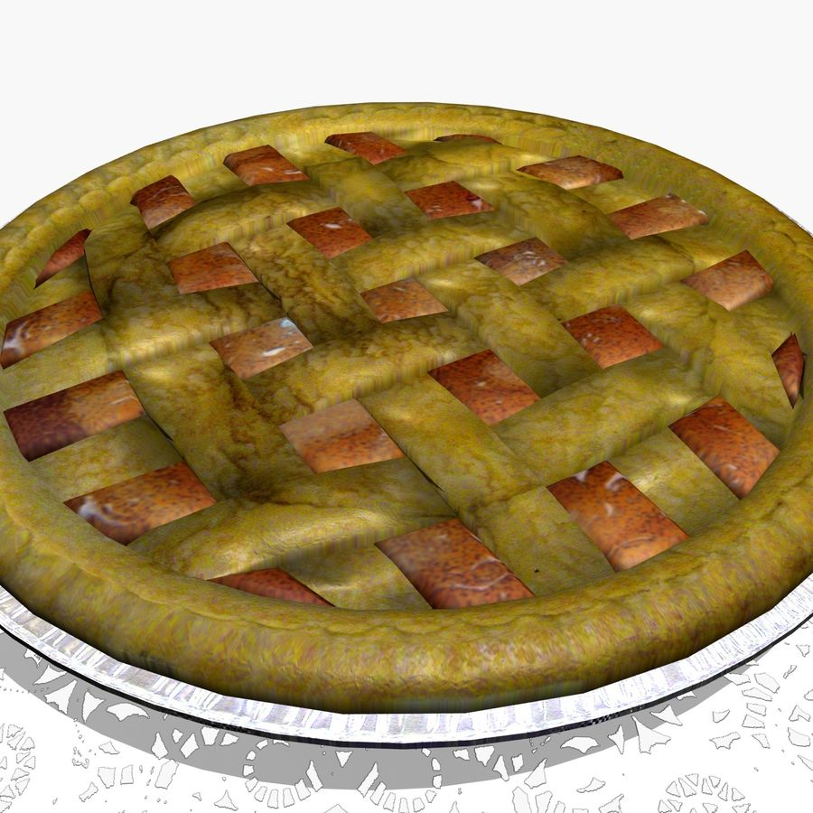 Apple Pie royalty-free 3d model - Preview no. 2