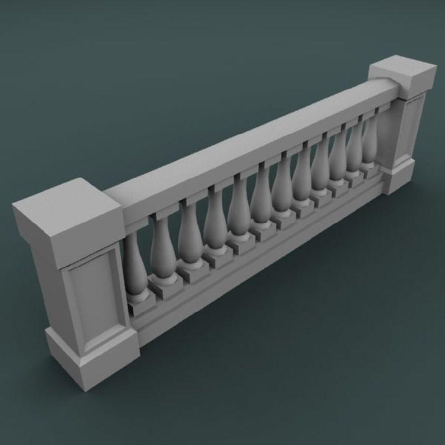 Balustrade 001_li12p royalty-free 3d model - Preview no. 3