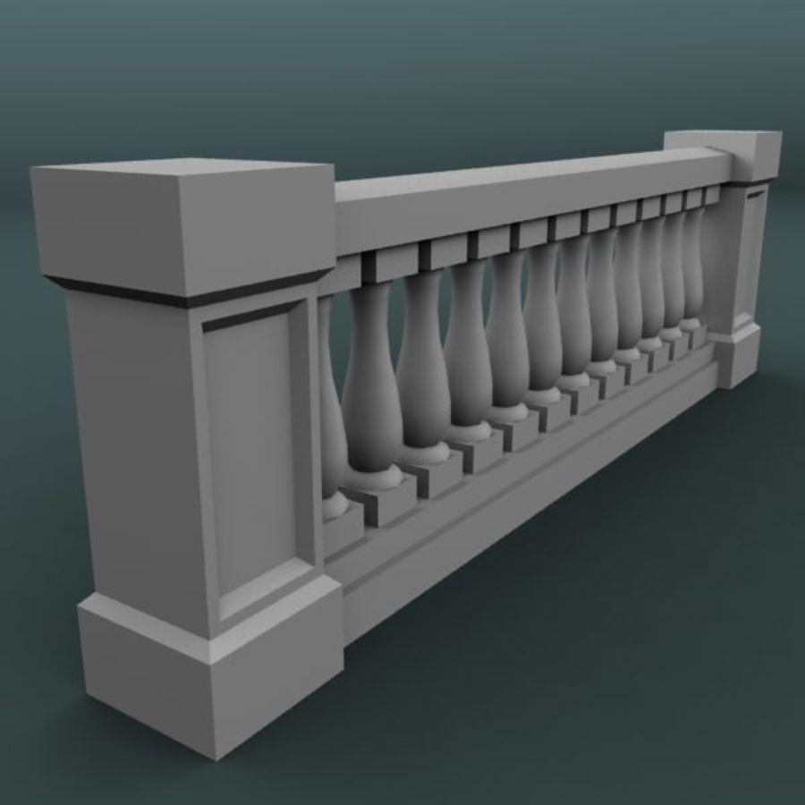 Balustrade 001_li12p royalty-free 3d model - Preview no. 2