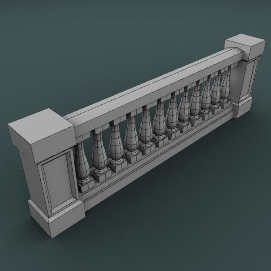 Balustrade 001_li12p royalty-free 3d model - Preview no. 4