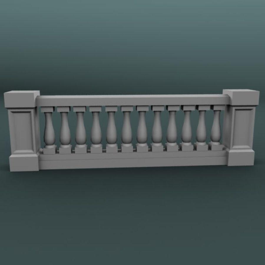 Balustrade 001_li12p royalty-free 3d model - Preview no. 1