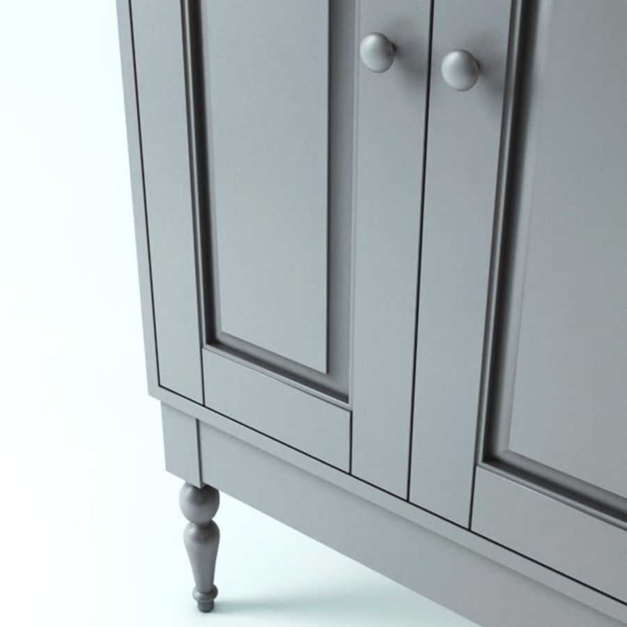 Ikea Cabinet royalty-free 3d model - Preview no. 4