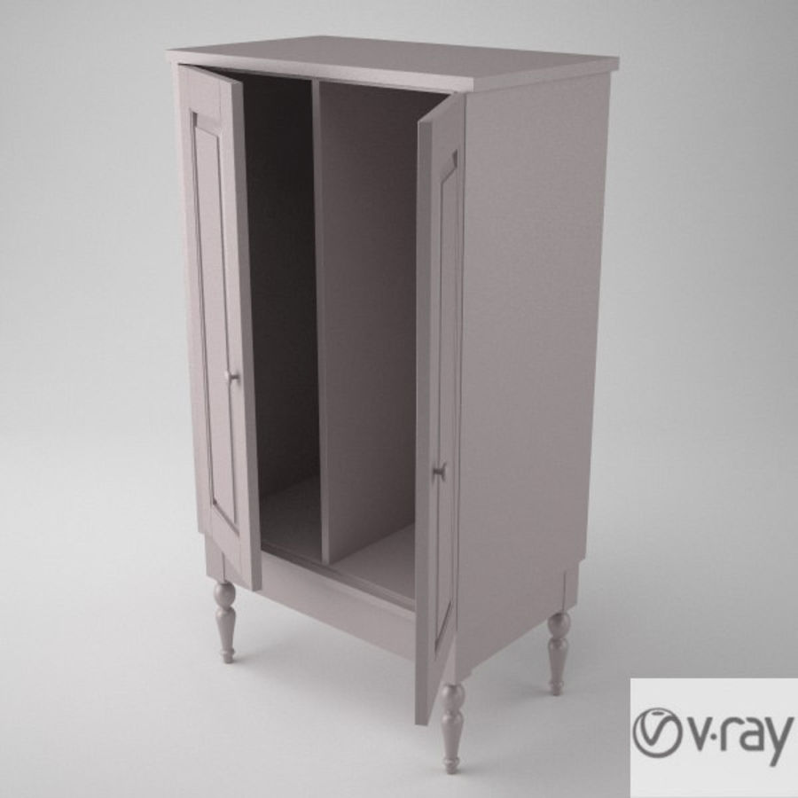 Ikea Cabinet royalty-free 3d model - Preview no. 6