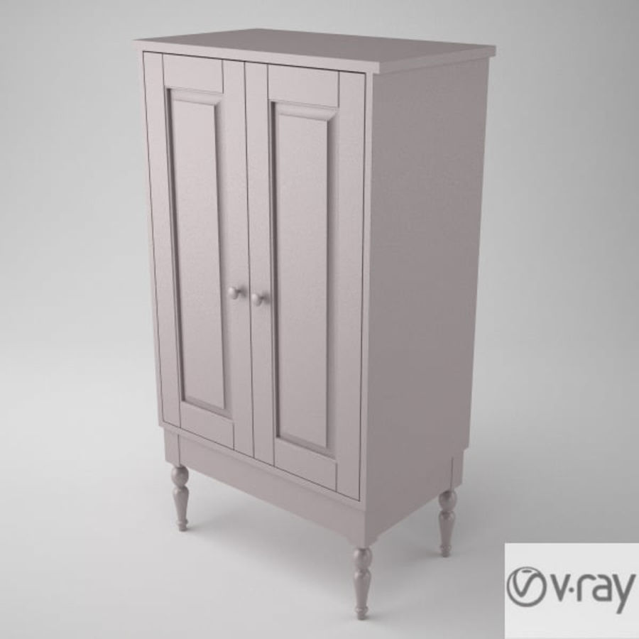 Ikea Cabinet royalty-free 3d model - Preview no. 5