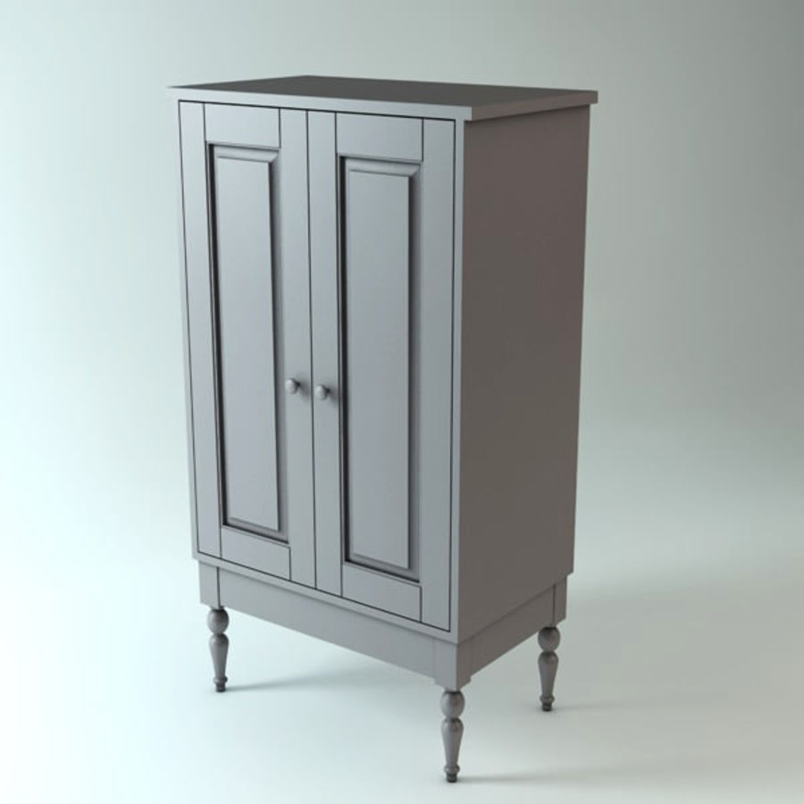 Ikea Cabinet royalty-free 3d model - Preview no. 1
