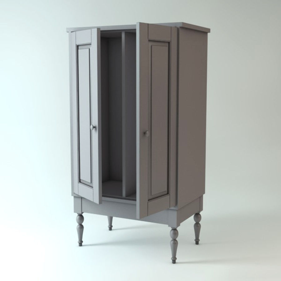 Ikea Cabinet royalty-free 3d model - Preview no. 3