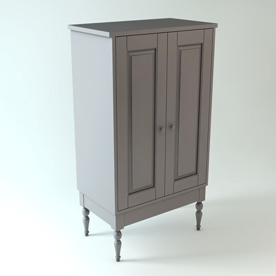 Ikea Cabinet royalty-free 3d model - Preview no. 2