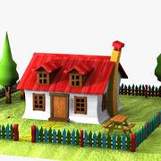 Cartoon House (2) 3d model