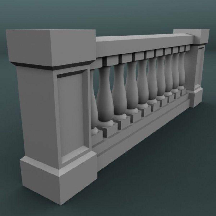 Balustrade 001_li10p royalty-free 3d model - Preview no. 2