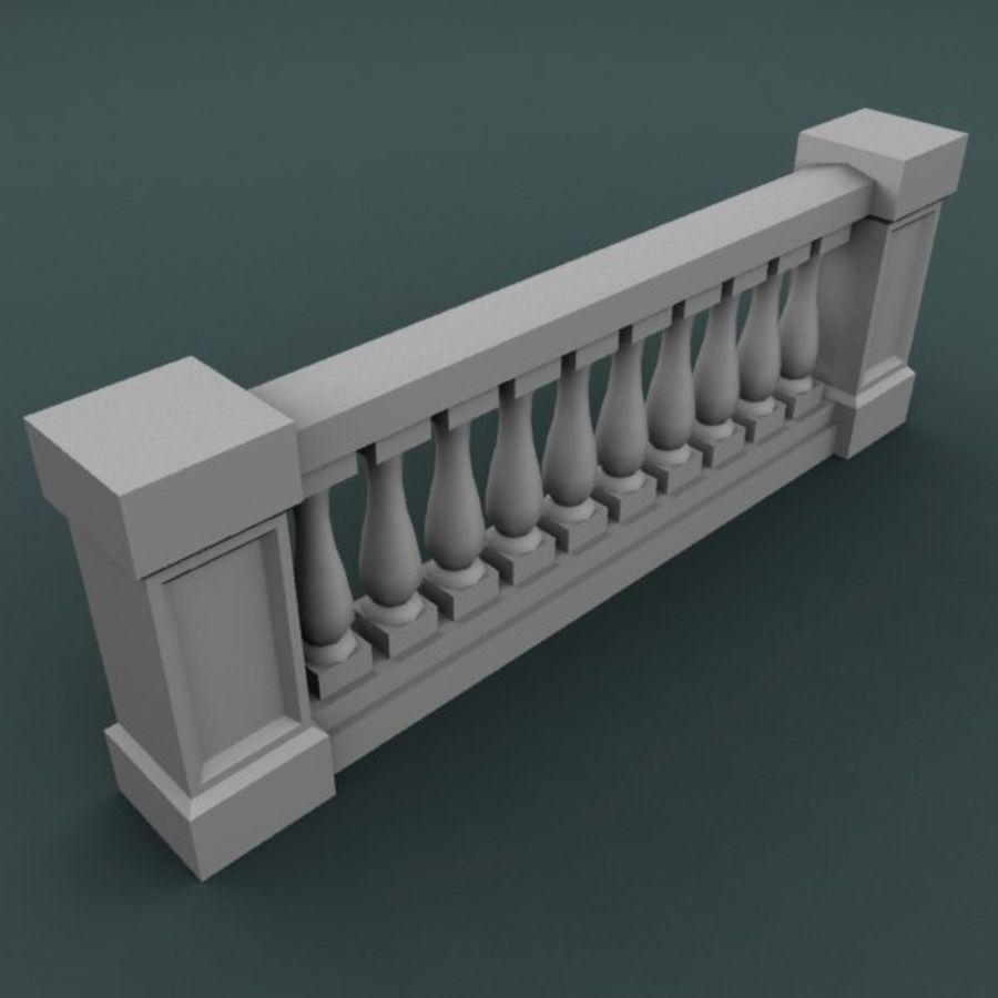 Balustrade 001_li10p royalty-free 3d model - Preview no. 3