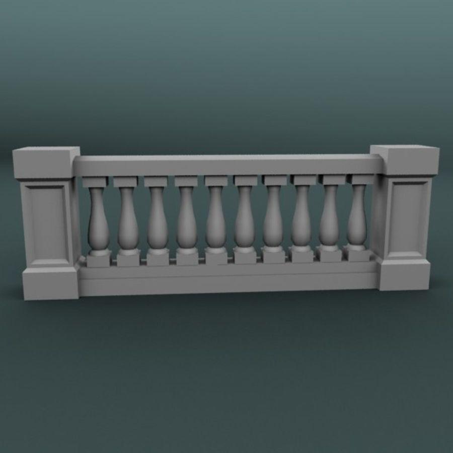 Balustrade 001_li10p royalty-free 3d model - Preview no. 1