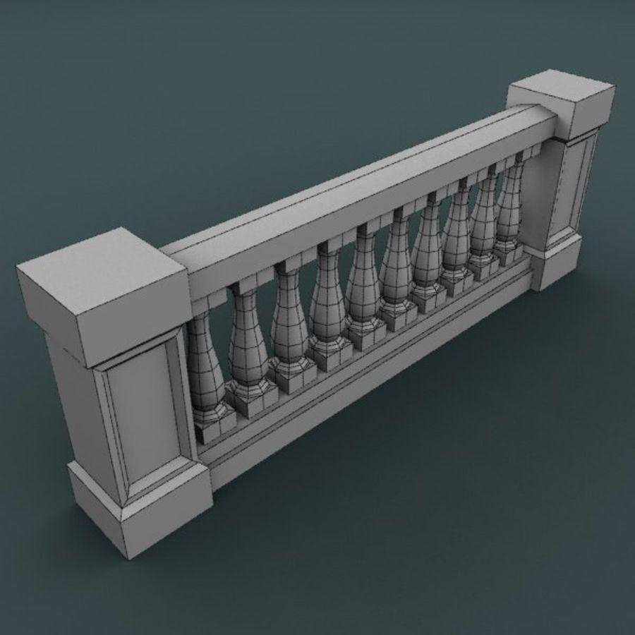 Balustrade 001_li10p royalty-free 3d model - Preview no. 4