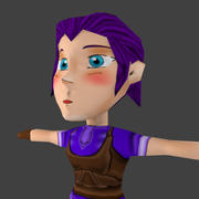 Chibi Girl Character 3d model