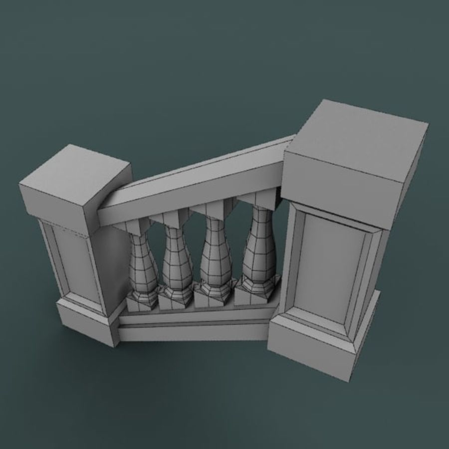 Balustrade 001_st04p royalty-free 3d model - Preview no. 4