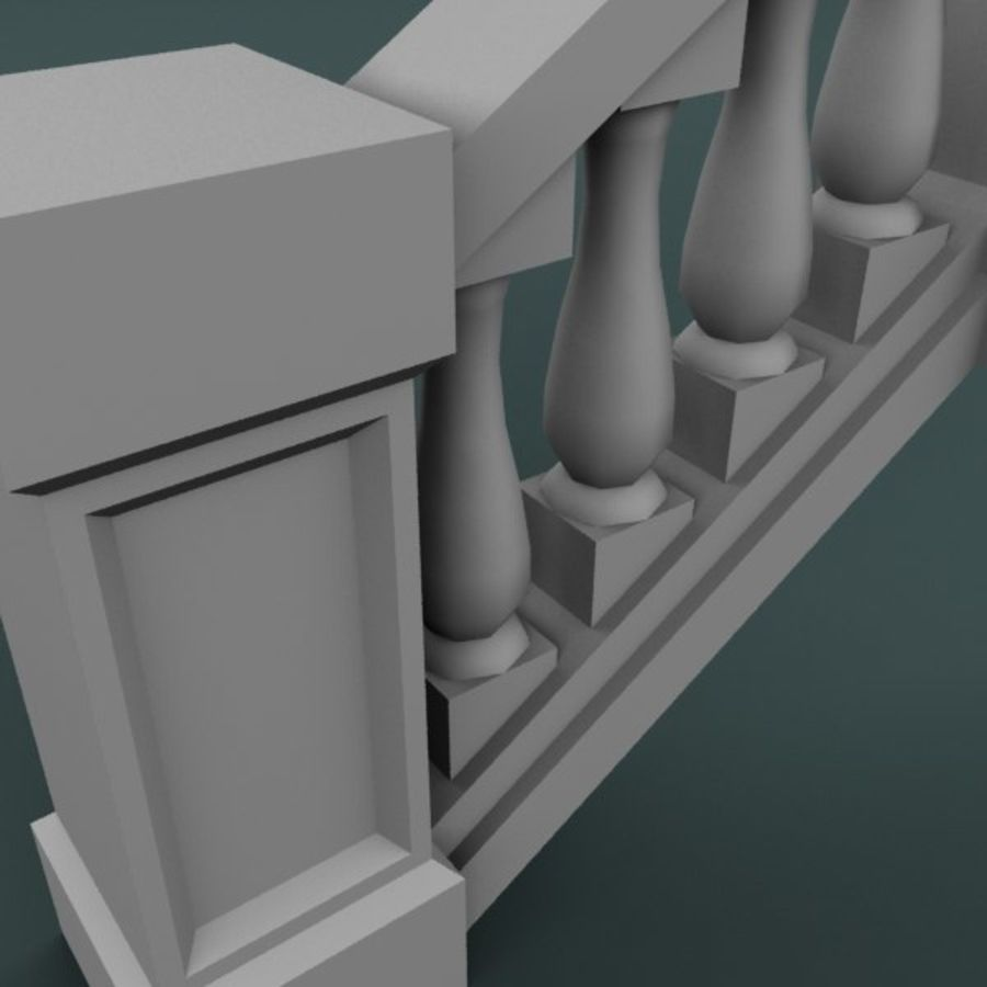 Balustrade 001_st04p royalty-free 3d model - Preview no. 5